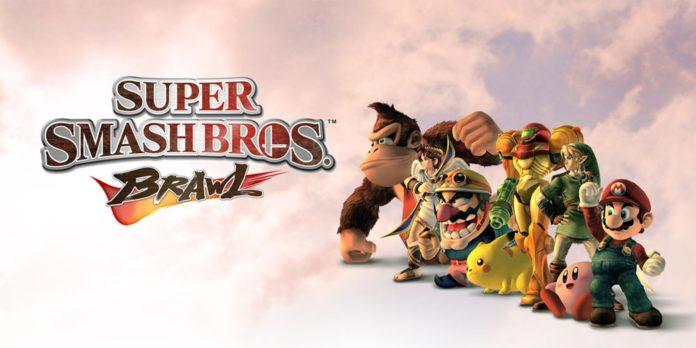 Le logo du jeu Super Smash Bros. Brawl sur Nintendo Wii