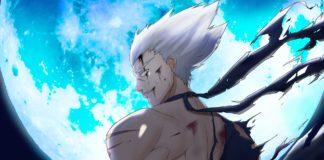 Le personnage Garou de One Punch Man demain une énorme lune bleutée
