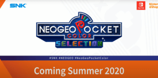 Le logo de la neo geo pocket selection pour Nintendo Switch