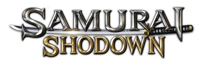 Le logo du jeu Samurai Shodown sur fond blanc