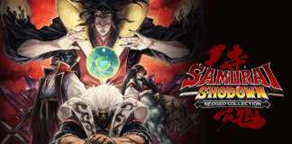 Le logo et les personnages de Samurai Shodown NEOGEO Collection disponible grauitement sur l'Epic Games Store