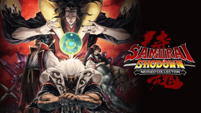 Le logo et les personnages de Samurai Shodown NEOGEO Collection disponible grauitement sur l'Epic Games Store