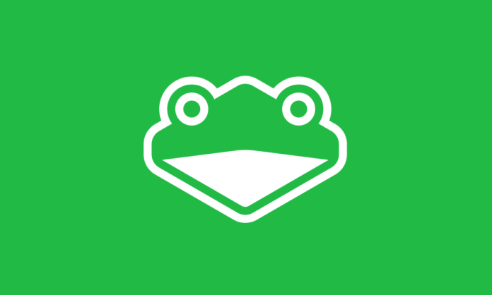 Le logo de slippi.gg : une tête de grenouille sur fond vert pomme