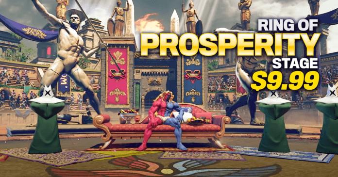 Le niveau en DLC du Capcom Pro Tour 2020 : Ring of Prosperity