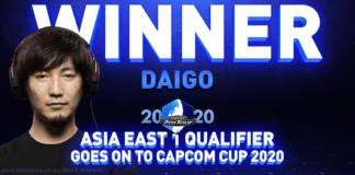 Le gagnant du premier tour du Capcom Pro Tour Online 2020 d'Asie de l'Est : Daigo The Beast