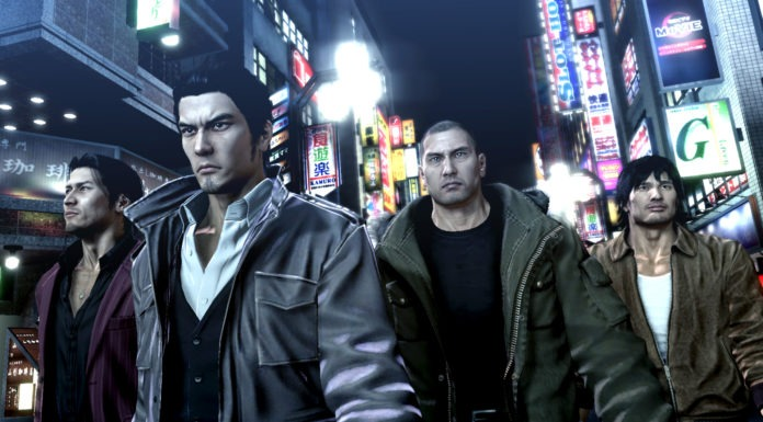 Les personnages du jeu de SEGA Yakuza