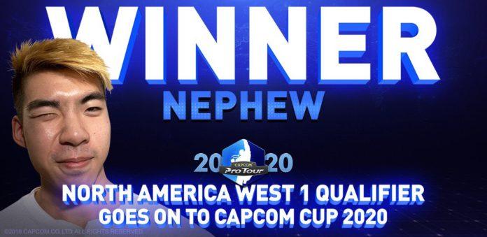 Le vainqueur du premier tour du Capcom Pro Tour Online 2020 de la côte ouest des USA