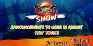 L'affiche annonçant le Dragon Ball FighterZ Show au mois d'août 2020