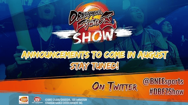 L'affiche annonçant le Dragon Ball FighterZ Show au mois d'août 2020