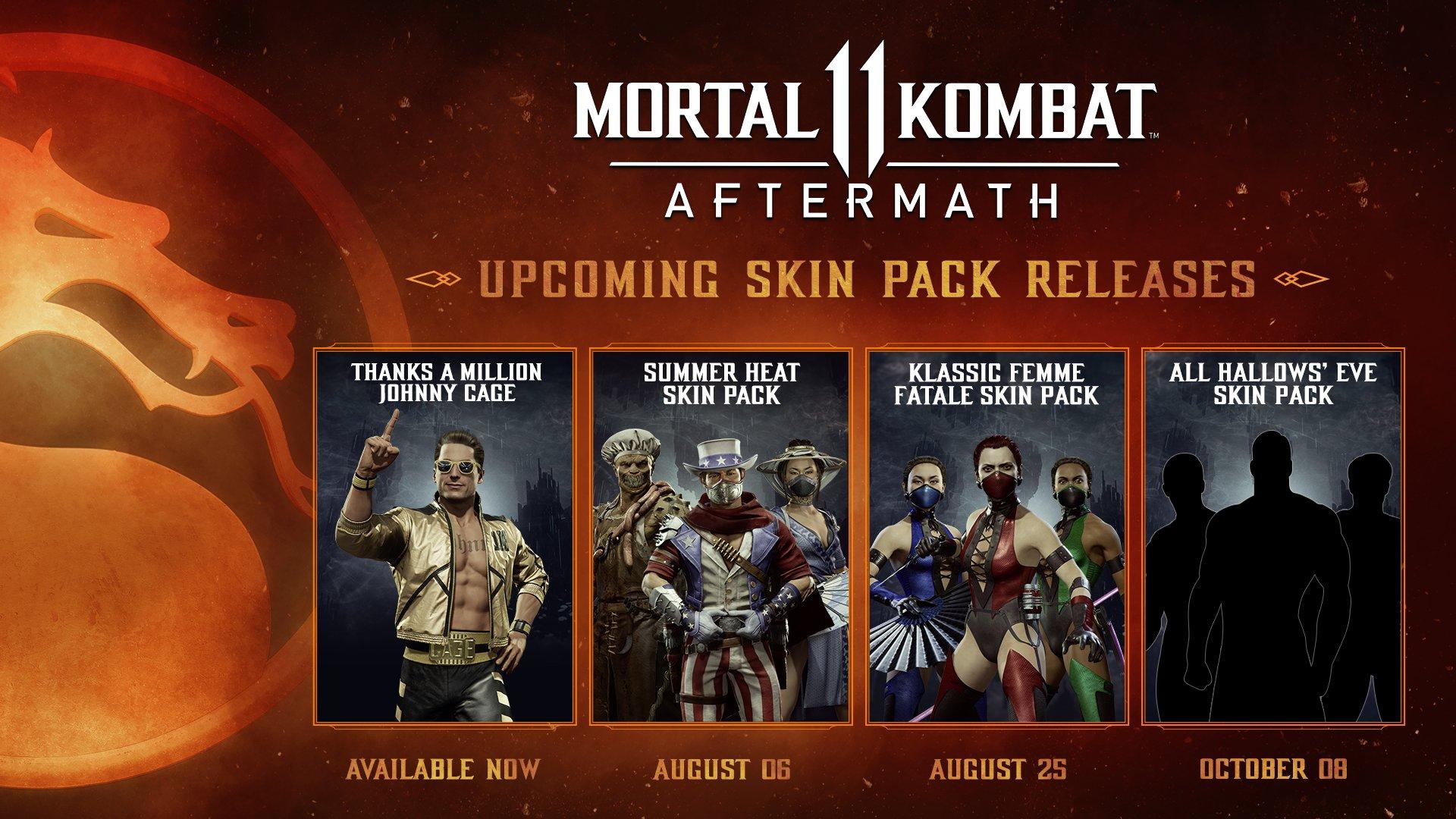 Les différents skin pack de Mortal Kombat 11 Aftermath