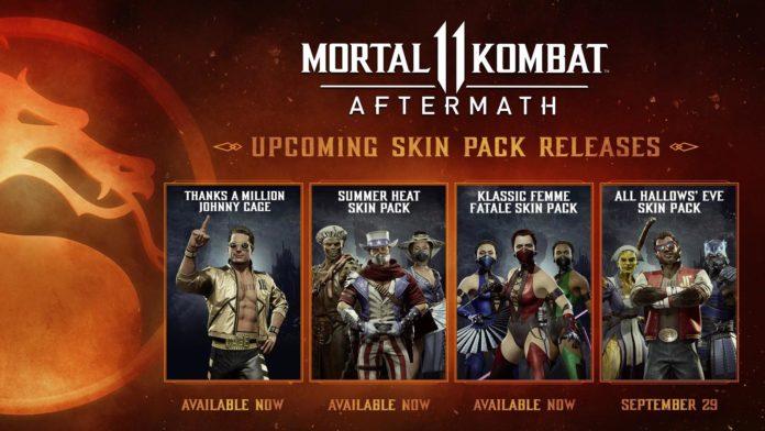 pack de skins d'halloween pour Mortal Kombat 11 : Aftermath