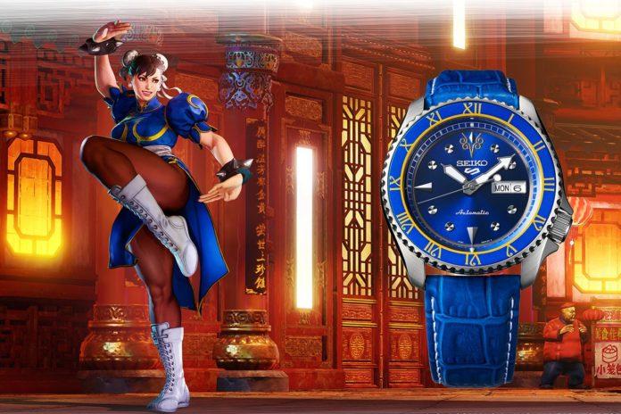 Montre Street Fighter par la société d'horlogerie haut-de-gamme japonaise Seiko