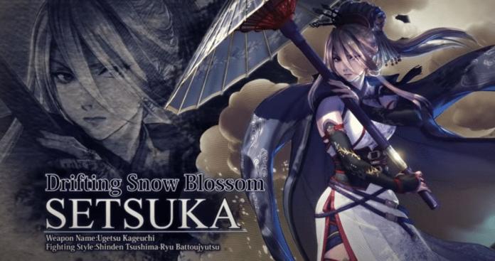 Le nouveau personnage en DLC de SoulCalibur VI : Setsuka