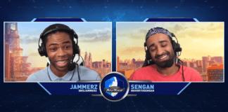 Les deux présentateurs du Capcom Pro Tour Online qui sourient