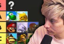 tier list de Leffen sur Super Smash Bros. Melee
