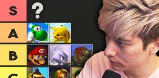 tier list de Leffen sur Super Smash Bros. Melee