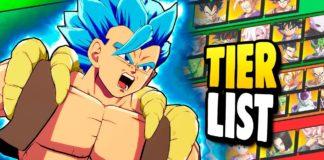 Dragon Ball FighterZ tier list de la version 3.5 par Globku