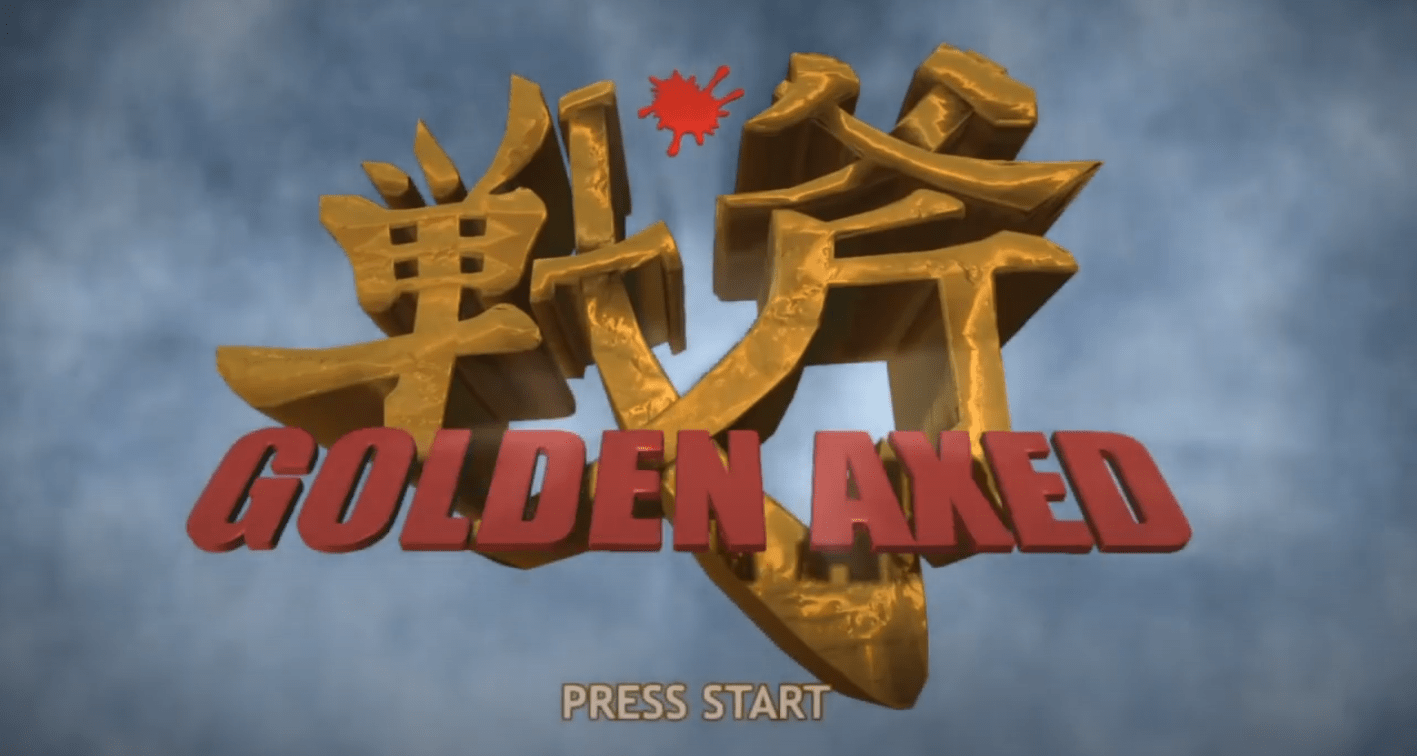 Le logo du jeu de Sega Golden Axed A Cancelled Prototype