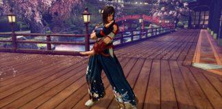 Karin dans Street Fighter V: Champion Edition portant le costume d'Hokuto