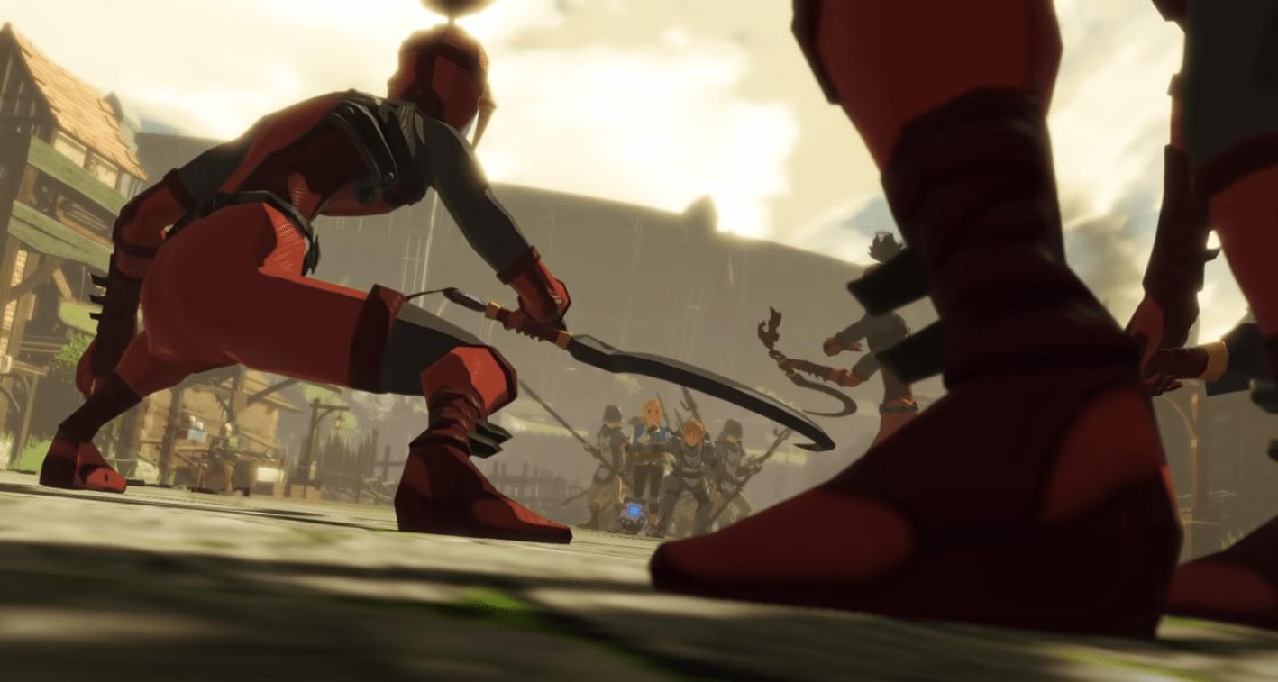 Le gang des Yigas qui encerclent les héros du jeu Hyrule Warriors sur Nintendo Switch dans la 2ème partie de la bande-annonce Souvenirs oubliés