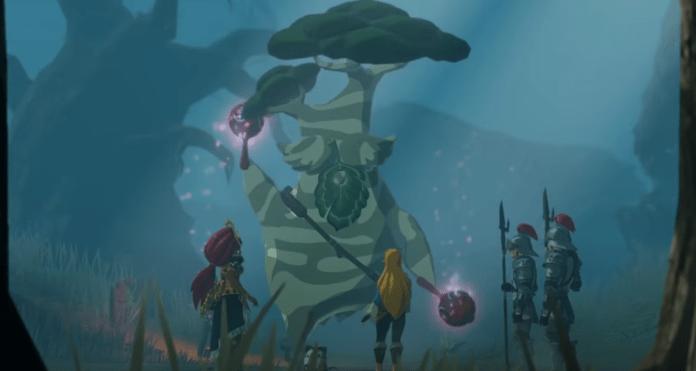 Un arbre qui danse dans la 3ème partie de la bande-annonce Souvenirs oubliés pour Hyrule Warriors
