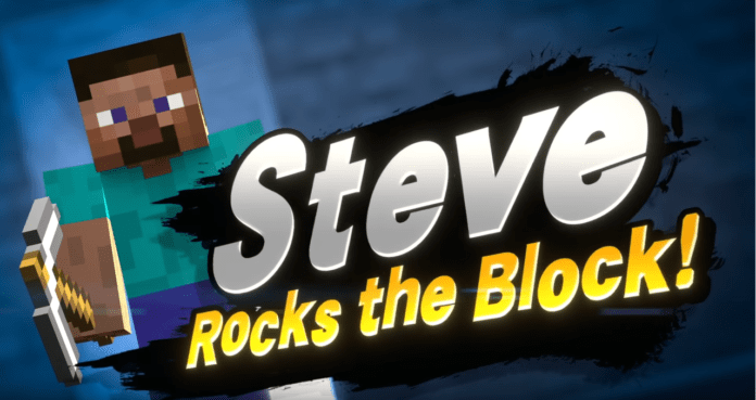 Steve de Minecraft est le prochain DLC de Super Smash Bros Ultimate