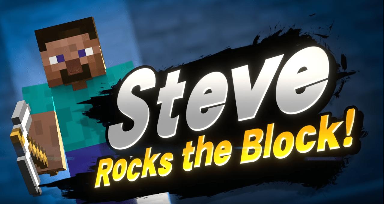Steve de Minecraft est le prochain DLC de Super Smash Bros Ultimate