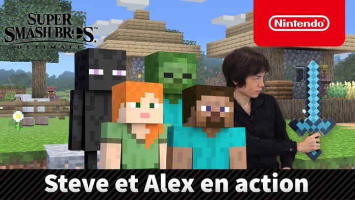présentation et date de sortie de Steve Minecraft sur Super SMash bros Ultimate