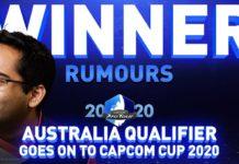 Le joueur australien de Street Fighter V Rumours à l'occasion du Capcom Pro Tour Online 2020 en Australie