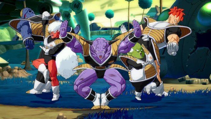 Comando Ginyu glitch avec Shenron Dragon Ball FighterZ
