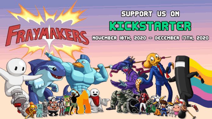 Le logo du jeu Fraymakers pour sa campagne de crowdfunding Kickstarter