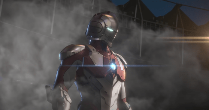 Le personnage d'Ultraman dans Override 2: Super Mech League dans une vidéo de Gameplay