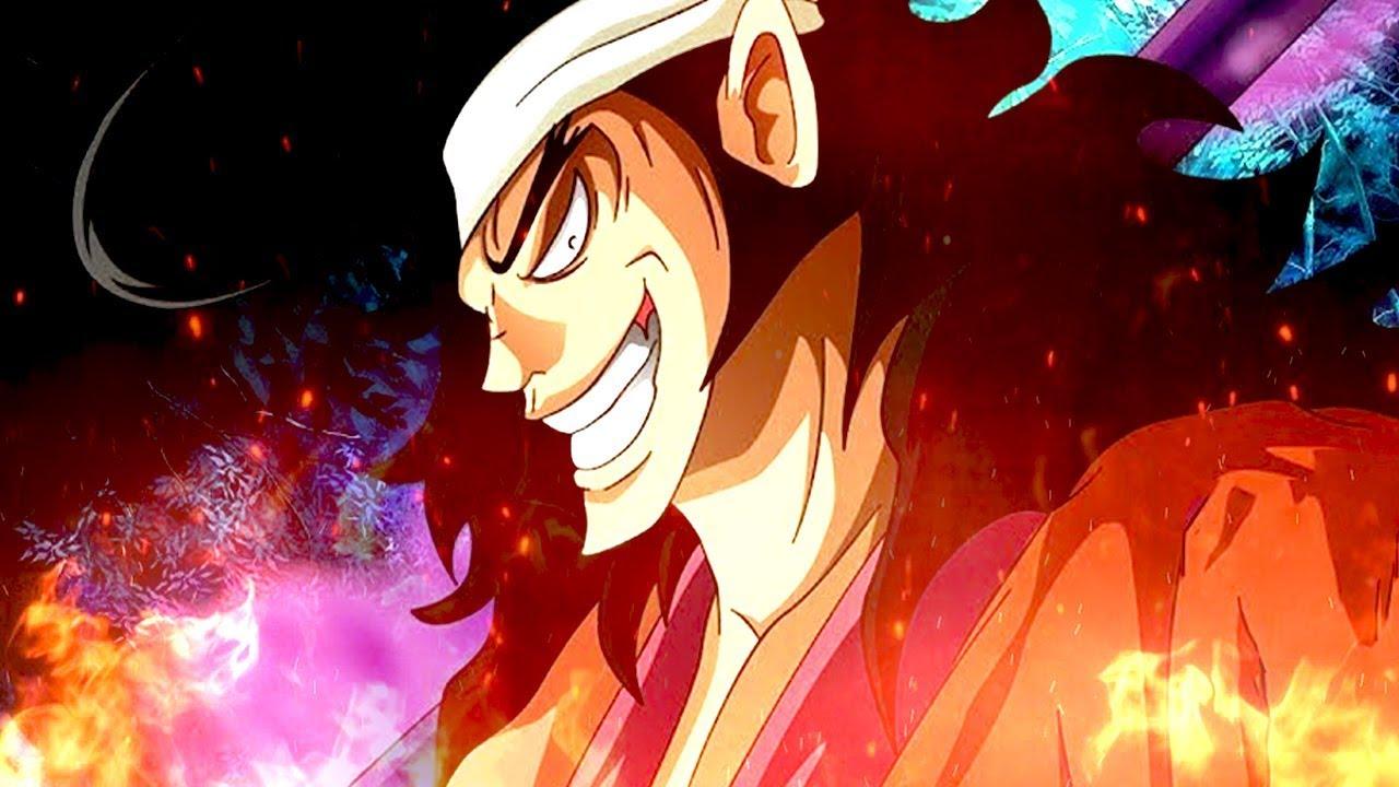 Le visage du personnage en DLC Kozuki Oden de One Piece: Pirate Warriors 4