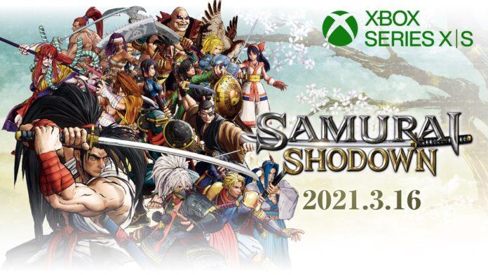 Tous les personnages de Samurai Shodown avec le logo Xbox Series