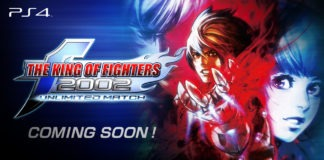 Le logo de The King of Fighters 2002 Unlimited Match avec la mention coming soon