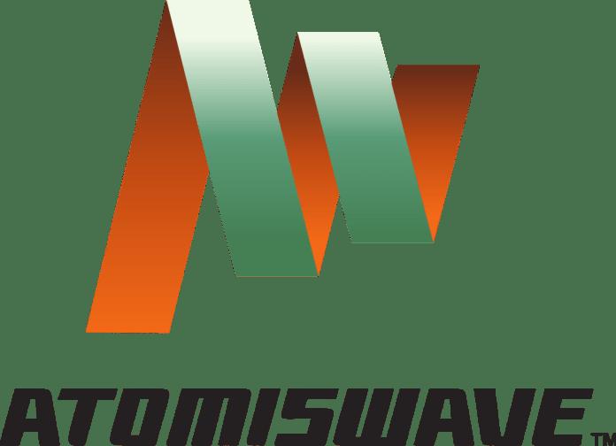 Le logo du système de borne d'arcade Atomiswave