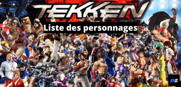 La liste de tous les personnages de la série Tekken