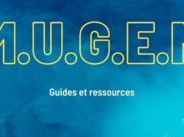 Le logo du lmoteur Mugen sur fond bleu avec la mention Guides et ressources