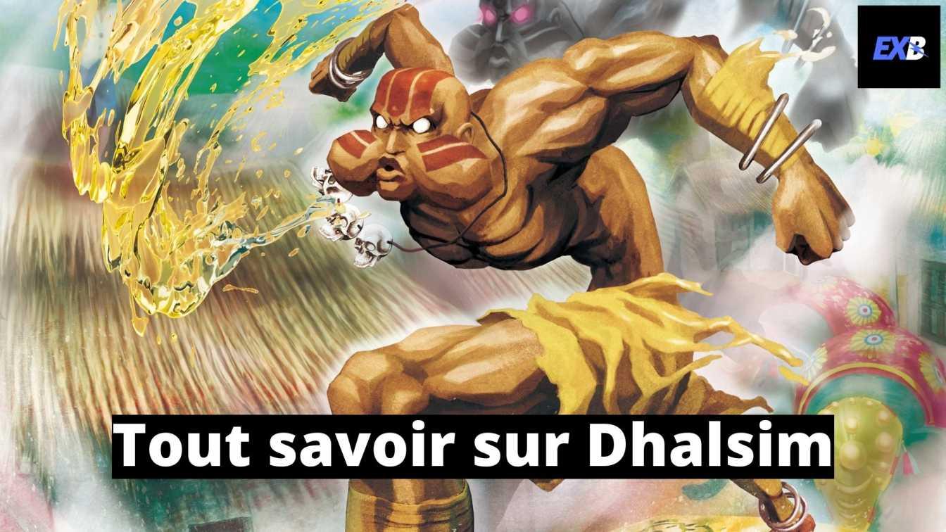 Dhalsim avec Maesh qui crache du feu dans le mode histoire de Street Fighter V