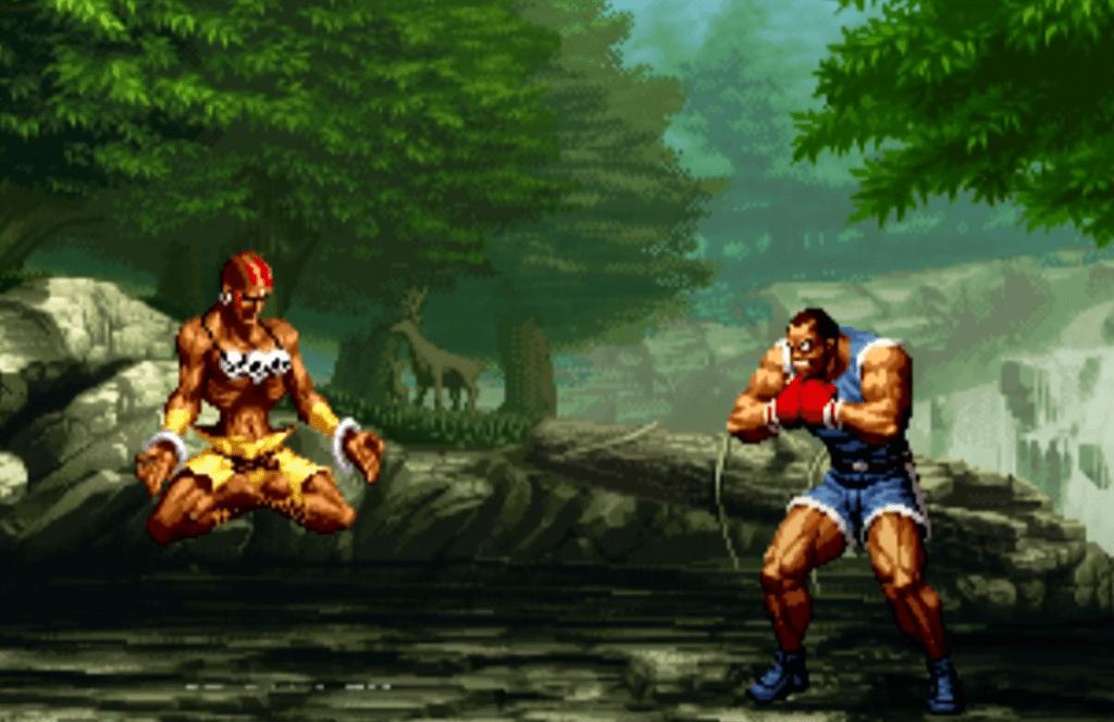 Dhalsim contre Balrog dans SNK vs Capcom