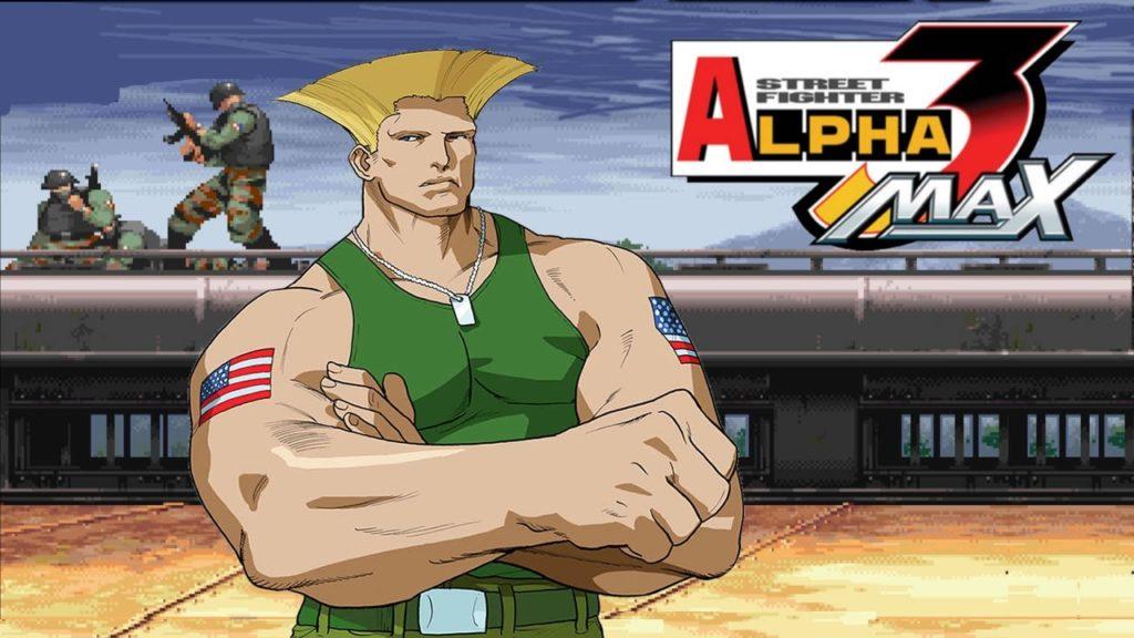 Le personnage de Guile dans Street Fighter Alpha 3