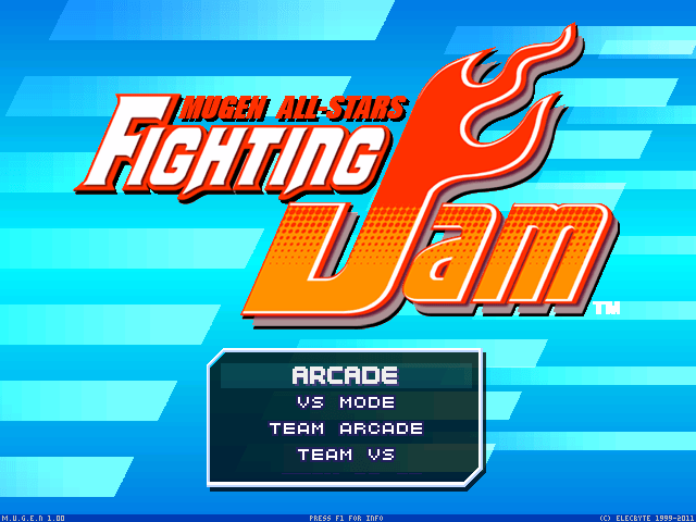Le menu principal de Mugen Fighting Jam