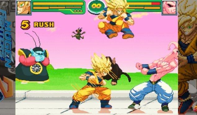Sangoku affronte Bou dans le jeu Mugen Hyper Dragon Ball Z