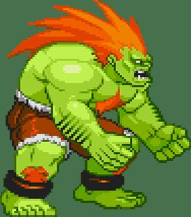 Le personnage de Street Fighter Blanka