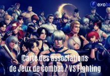 Tous les personnages de The King of Fighters avec la mention Carte des associations Jeux de combat / VS Fighting