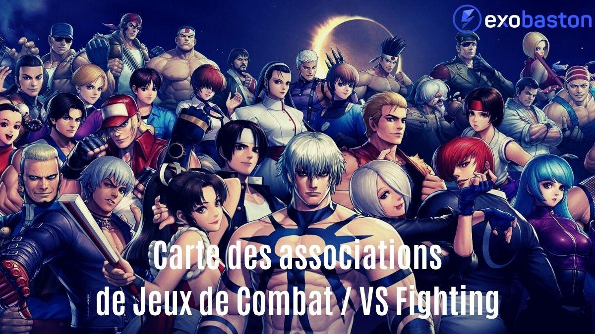 Tous les personnages de The King of Fighters avec la mention Carte des associations Jeux de combat / VS Fighting