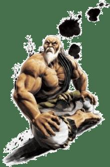 Le personnage de Street Fighter 4 Gouken