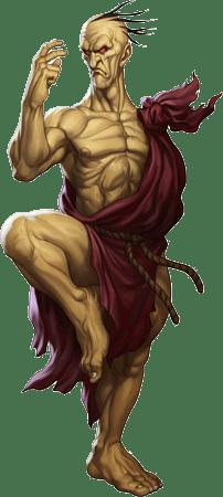Le personnage de Street Fighter Ryu dans un kimono blanc