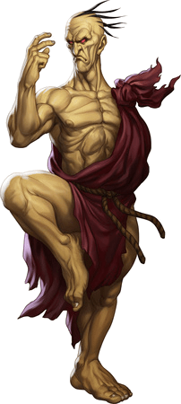 Le personnage de Street Fighter III: 3rd Strike Oro