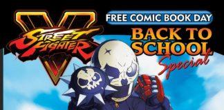 La couverture d'Udon avec Akira Kazama contre Sakura de Street Fighter qui lui donne un coup de pied